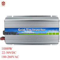 MAYLAR 1000 Вт 22 50VDC до 90 260VAC чистая синусоида сетки галстук микро инвертор для Vmp30V/36 в солнечных панелей, обувь по заводским ценам
