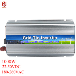 MAYLAR 1000W  22-50VDC to 90-260VAC Pure Sine Wave Grid Tie Micro Inverter For Vmp30V/36V Solar Panels ,Factory Outlet