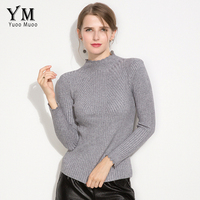 YuooMuoo High Quality Turtleneck Women Sweater Solid Winter Pullover Sweater Top For Women Spring Autumn Ladies