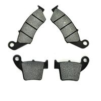 LOPOR Front Rear Motorcycle Brake Disc Pads For Honda CRF250R CRF250 X 2004 2015 CRF450R CRF450