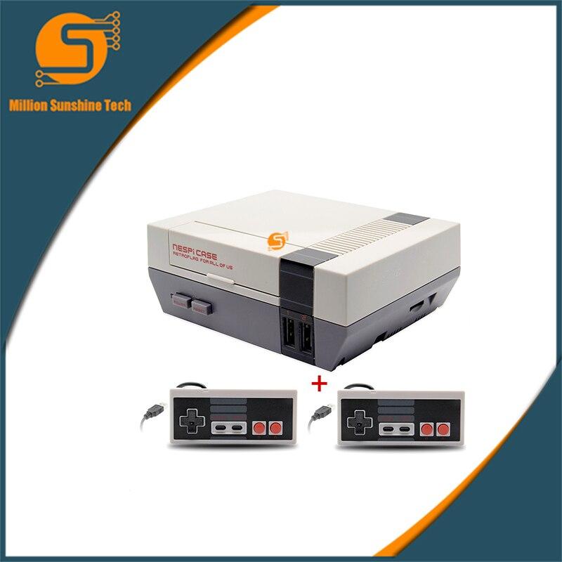 NESPi Case Raspberry Pi 3 Model B Classical NES Style Case Game Console +2pcs Game Handle For Raspberry Pi 3, 2B, B+