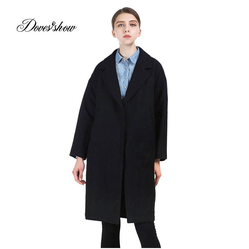 2017 Dámské kabáty Cocoon Maxi Nové vlněné kabáty Žena bunda Oversized Winter Overcoat Female Long Outwear Blends Casaco Feminino