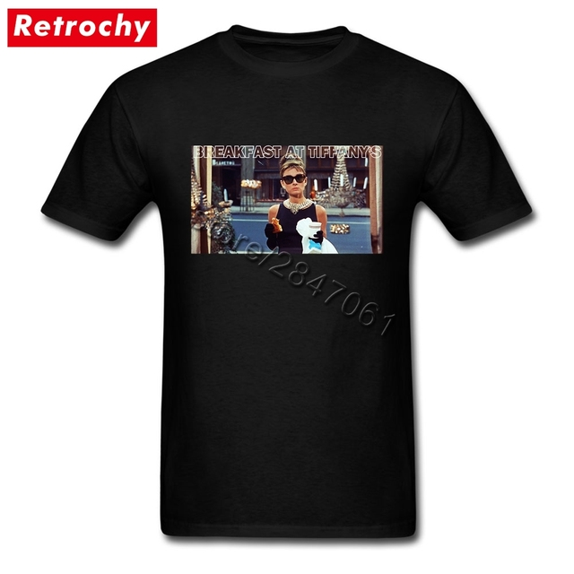 af10aa04e0b Large and Tall Band Merch Audrey Hepburn Tee Breakfast T Shirt Mens Simple  Fashion Brand Short Sleeve Men Summer 1960S Clothing