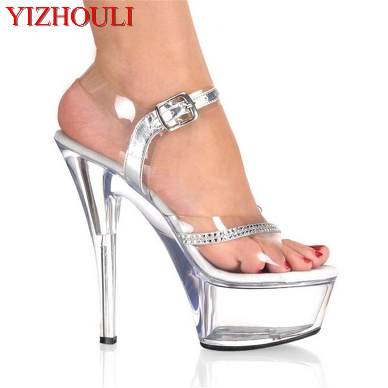 Office & School Supplies Responsible New Arrival Sexy Platform Thin High Heels Sandals Women Shoes 15 Cm Heel Pumps Peep Toe Dance Shoes Factory Direct Selling Price