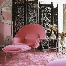 U-BEST дизайнерский диван-стул для отдыха, кресло для отдыха, кресло для отдыха, одноместный диван, удобный тканевый диван-стул с оттоманкой в скандинавском стиле
