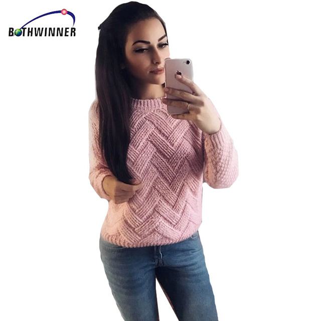 Bothwinner Pull Femme 2017 Autumn Winter Women Sweaters And Pullovers Thick  Knitting Mohair Sweater Female Loose 24b42588e