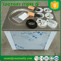Single round pan single air compressor Thailand fry ice cream roll machine for sale