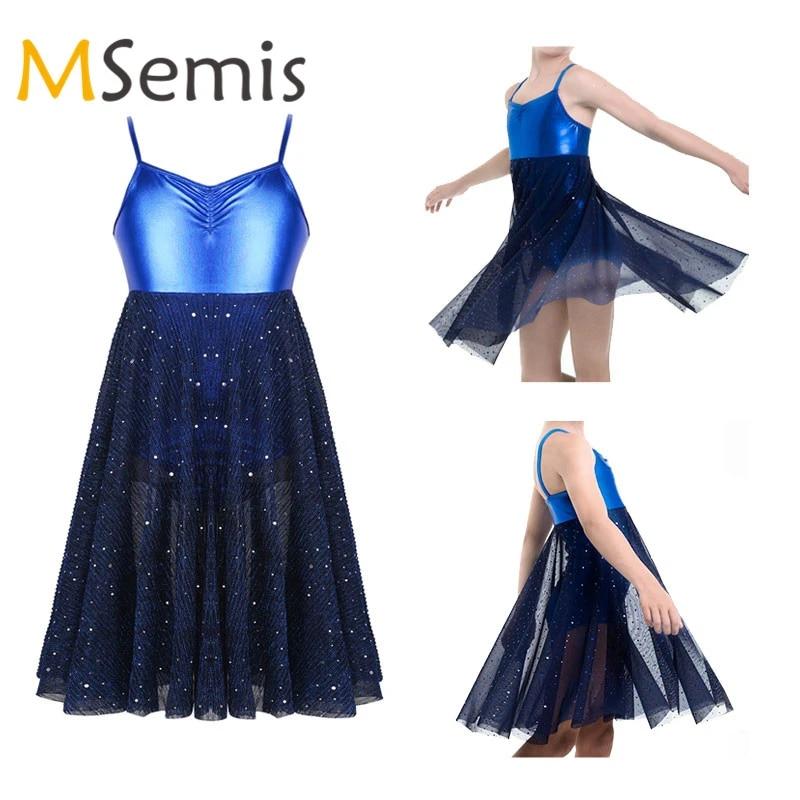 Skirt Outfits Kids Girls Gym Ballet Dance Dress Sleeveless Caged Back Leotard