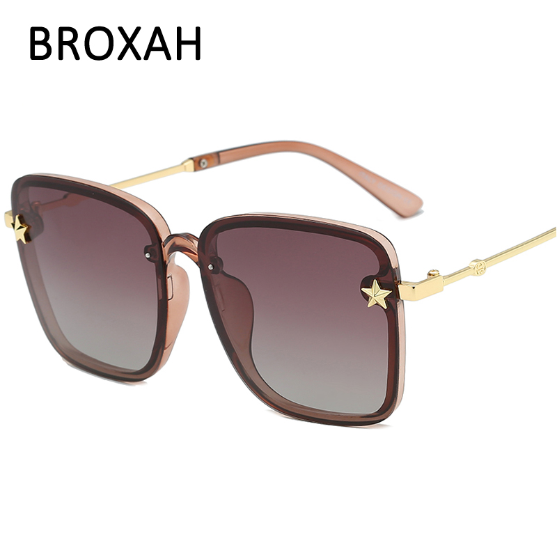 BROXAH Polarized Sunglasses Women Brand Designer 2019 Square Ladies Driving Glasses Retro Eyewear UV400 Gafas De Sol Mujer in Women 39 s Sunglasses from Apparel Accessories