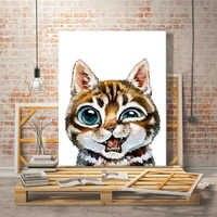 Farbe durch zahl kunst malerei durch zahlen Tier Schöne Kaninchen katze Panda Handgemachte Individuelle anpassung geschenk interessant