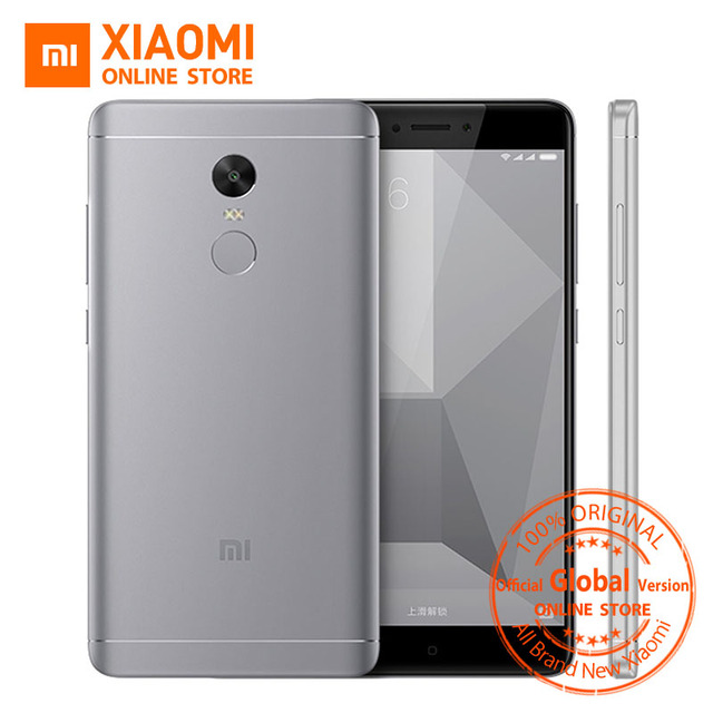 "Global Version Xiaomi Redmi Note 4 Mobile Phone 3GB RAM 32GB ROM Snapdragon 625 Octa Core CPU 5.5"" 1080p display 13MP Camera"
