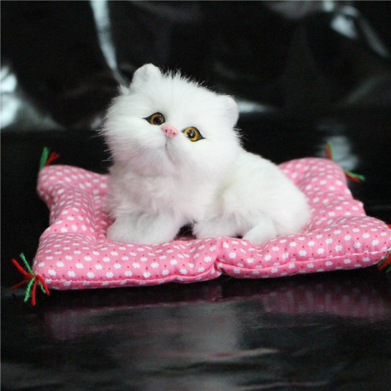 1pc Super Kawaii Simulation Cats Plush Toys Press Sounding Kittens