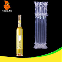 Fragile Oil Liqueur Pot Bottle Wine Olive Glass Roll Film Inflatable Falling Balloon Cushion Bag Bubble Packaging Air Protection