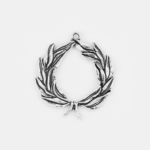 2pcs Antique Silver Large Branch Wheat Ear Open Charms Pendant For Necklace Jewelry Making Findings Accessories 61*70mm