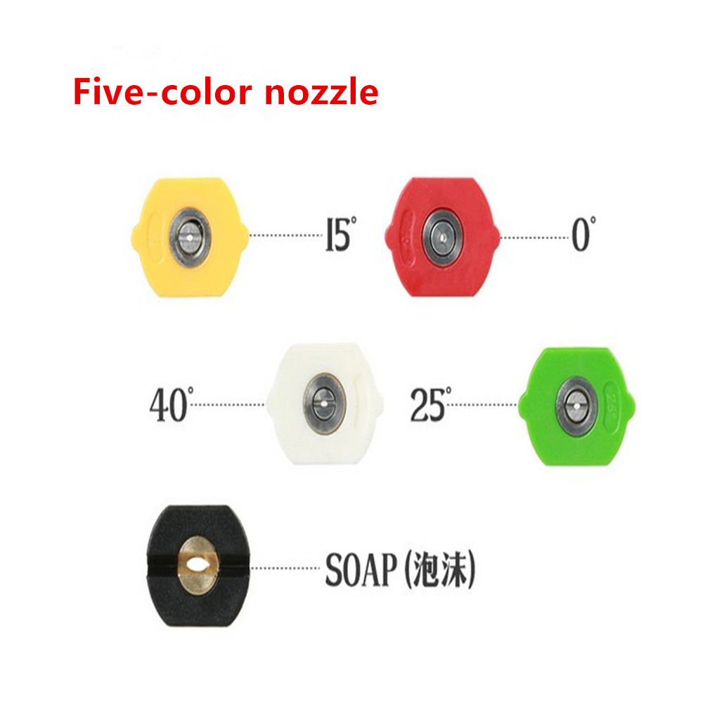 Image 2 - 1 Set 5 color M22 Thread Pressure Water Washer Nozzles for 3000 PSI High Pressure Washer Gun Water Jet Car Wash Gun-in Car Washer from Automobiles & Motorcycles