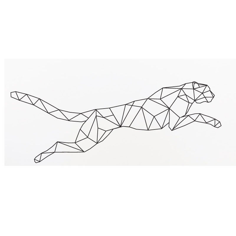 Geometrische Jaguar Wandaufkleber Running Leopard Home Decor - Wohnkultur - Foto 3