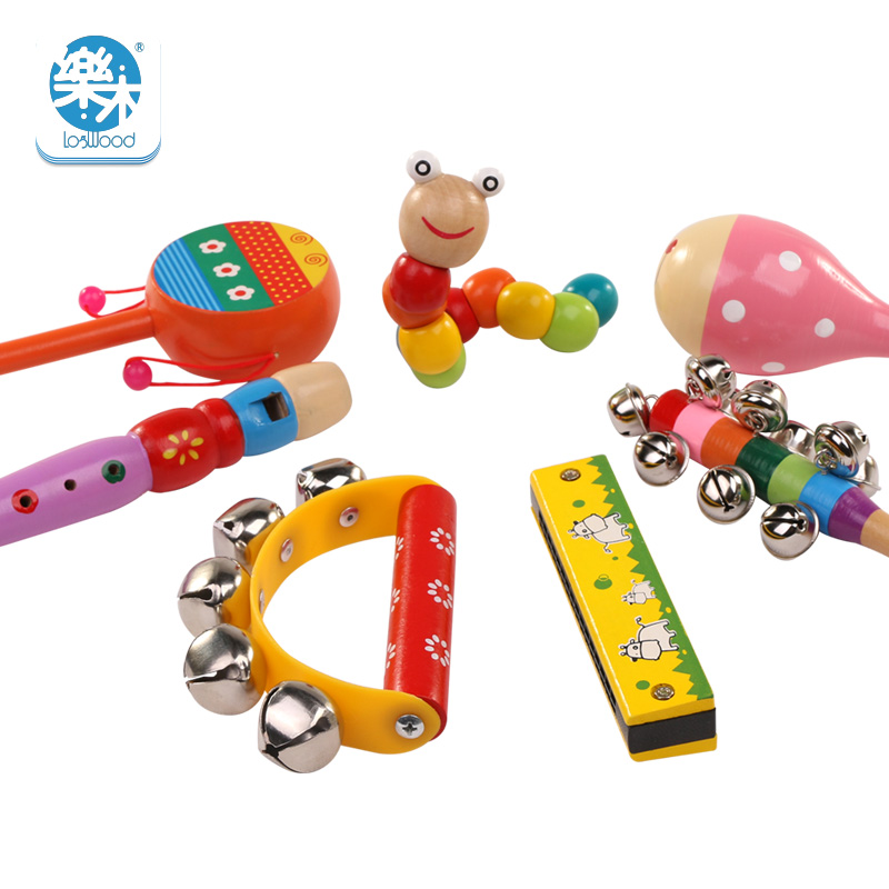 Baby Rattle Ring Wooden Toys Musical Instruments 0-12 Months Music Education UK
