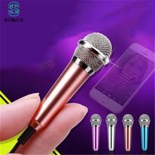 Stop Aluminium Mini 3.5mm Handheld Karaoke KTV telefon komórkowy mikrofon przewodowy mały rejestrator mikrofon na telefon komórkowy