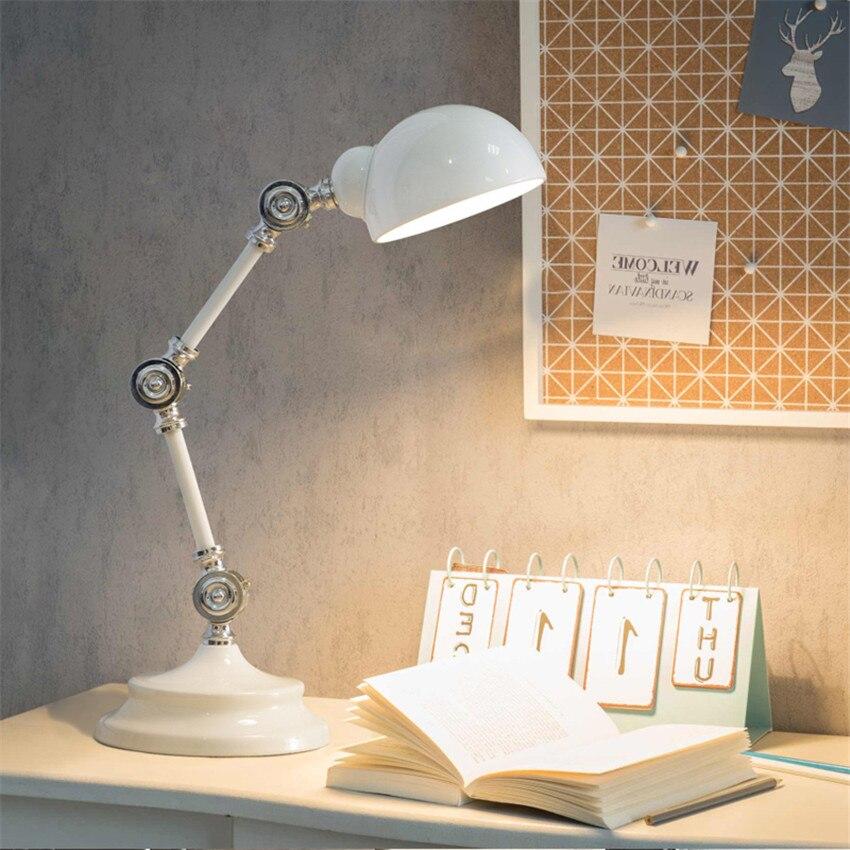 Led-lampen Sinnvoll Nordic Mechanische Rocker Plug-in Tisch Lampen E14 Auge Pflege Schreibtisch Lichter Student Kinder Lesen Schlafsaal Lampe Schlafzimmer Nacht Lampe Jade Weiß Licht & Beleuchtung