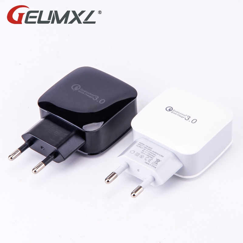 Cestovní nástěnná nabíječka Quick Charge 3.0 USB Charger Adapter 18W EU Plug pro Samsung HTC LG Sony Huwei Xiaomi ASUS Lenovo Meizu
