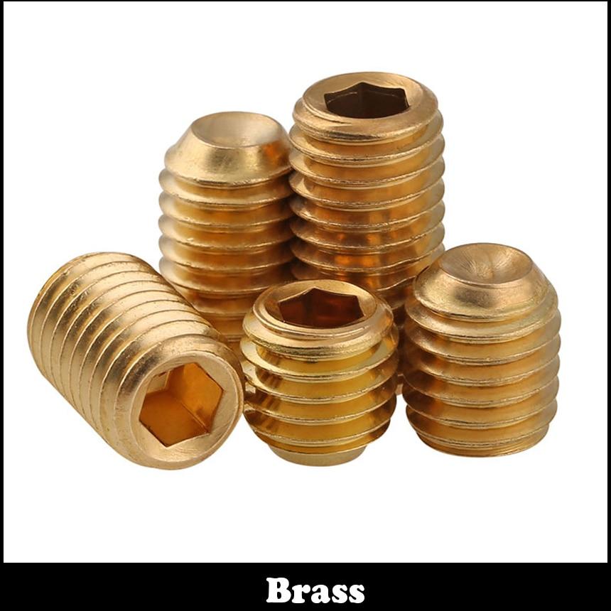 M3 M3*4 M3x4 M3*10 M3x10 M3*12 M3x12 Brass Allen Head Hex Hexagon Socket Grub Cup Point Set Screw 20pcs m3 6 m3 x 6mm aluminum anodized hex socket button head screw