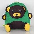 Bear Cartoon Bag New Fashion Canvas Shoulder Bag Hit The Color Children  Backpack Schoolbag Infant