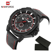 NAVIFORCE Watch Man Luxury Brand Relogio Masculino Fashion Military Leather Quartz Wristwatch Sports Clock With Watch