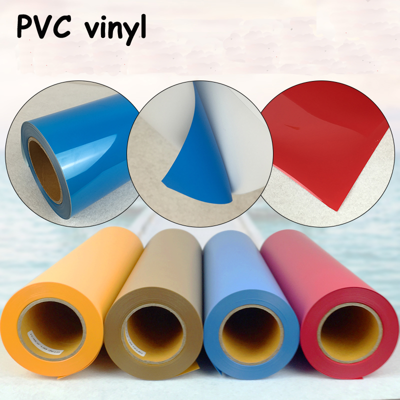 New 5rolls PVC Heat Transfer Vinyl Cut By Cutting Plotter Transfer DIY T-shirt one yard 51cmx100cm glitter heat transfer vinyl film heat press cut by cutting plotter diy t shirt 40 colors for choosing