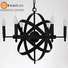 Старинные железная подвеска ламо краткое подвесной фонари кованые подвесной светильник