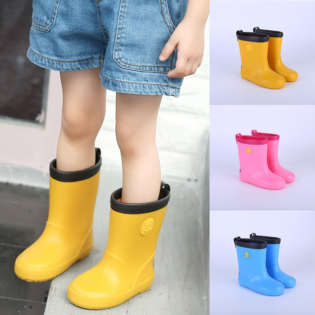 Children Shoes Toddler Baby Waterproof Rain Boots Shoes