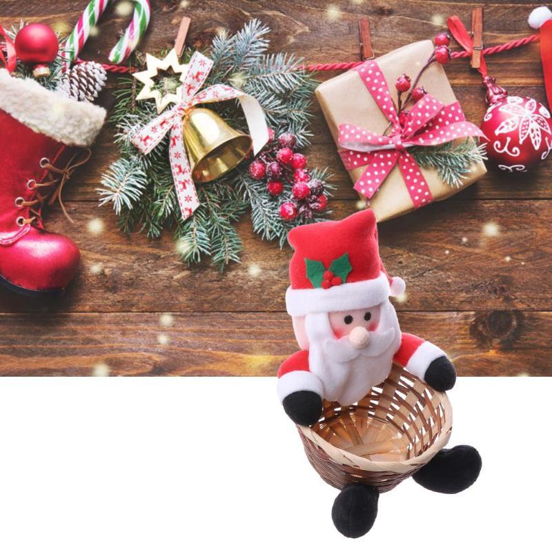 Christmas Snowflake Elk Gift Sled Hat Table Hook Folding Bag Desk Hanger Foldable Holder