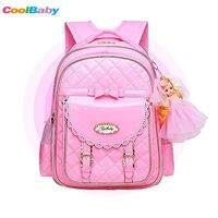 New Orthopedics Fashion Children School Backpack Girl's School Bags PU Waterproof Backpack Kids School bag 2018 Fashion Trend