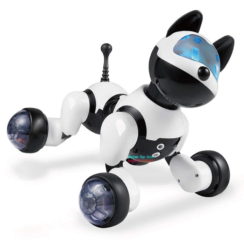 YANZCHILD Sans Fil Télécommande Robot Chien Interactif Smart Chiot Sens Geste Chante Danses Chat Pour Garçons Filles et Enfant - 4