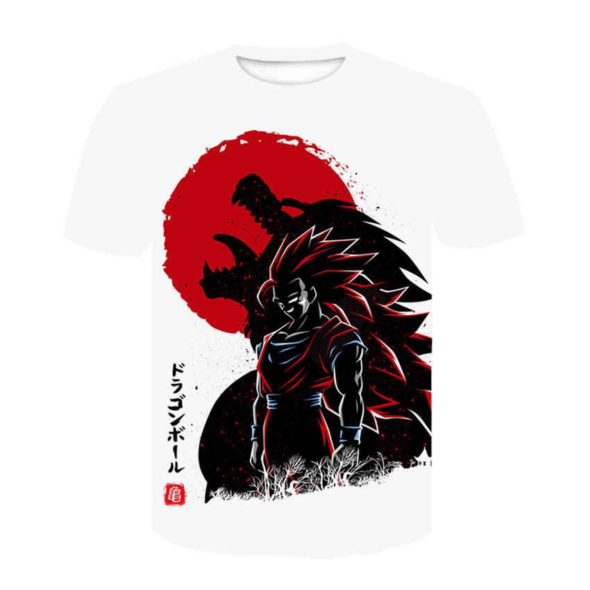 2019 3d печать Camisa Camiseta аниме Жемчуг дракона супер Гоку мужская футболка Dragon Ball Z Футболка мужская повседневная футболка Топы