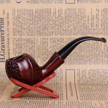 Hot Classic Carve Resin Pipes Chimney Filter Smoking Pipe Tobacco Pipe Cigar Gifts Narguile Gift Grinder Smoke Mouthpiece(China)