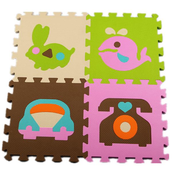 Venda quente 30*30 cm 10 pçs/set Enigma Tapete esteira Do Jogo Do Bebê Tapete Crianças EVA Foam Mat Enigma Chão Tapete piso de mosaico