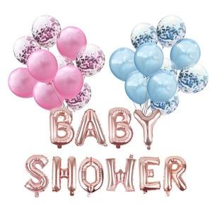 Image 5 - Laphil Baby Douche Folie Ballon Mama Om Worden Blauw Roze Confetti Ballons Zijn Een Jongen Meisje Geslacht Onthullen Babyshower Party levert
