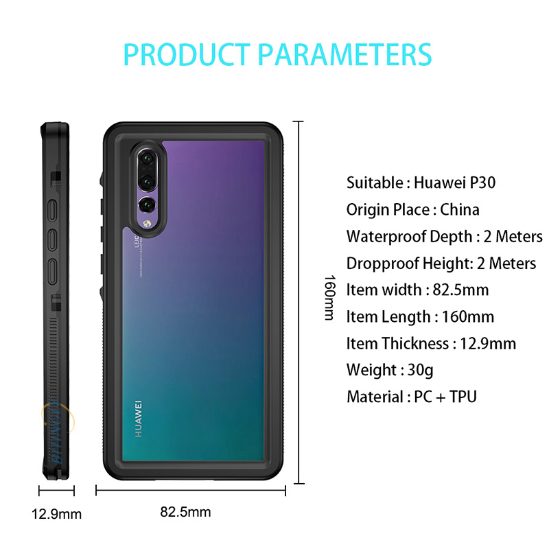 Outdoor Swim Case For Huawei P30 Pro P30 Case Swimming IP68 Waterproof PC TPU Protection Cover For Huawei P20 Lite P20 Pro Capa
