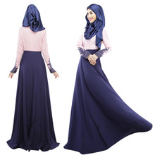 A001 Fashion Linen New Style Muslim Abaya one pcs abaya without the hijab with the inner Islamic Ladies Pray Outwearing