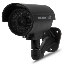 Dummy Surveillance Camera Bullet with IR LEDs Fake Simulation CCTV Security