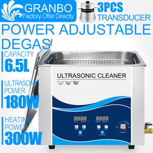 Granbo 0-180W Power Adjustable Digital Ultrasonic Cleaner 6L 6.5L With DEGAS Heating For Main Board Laboratory Medical Tools 6l digital ultrasonic cleaner 180w free shipping price includes cleaning basket
