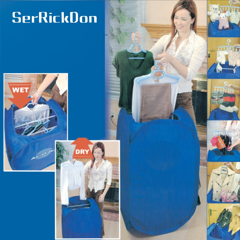 цены Mini Blue Portable Electric Air Clothes Dryer Folding Fast Drying Machine 800W Multipurpose