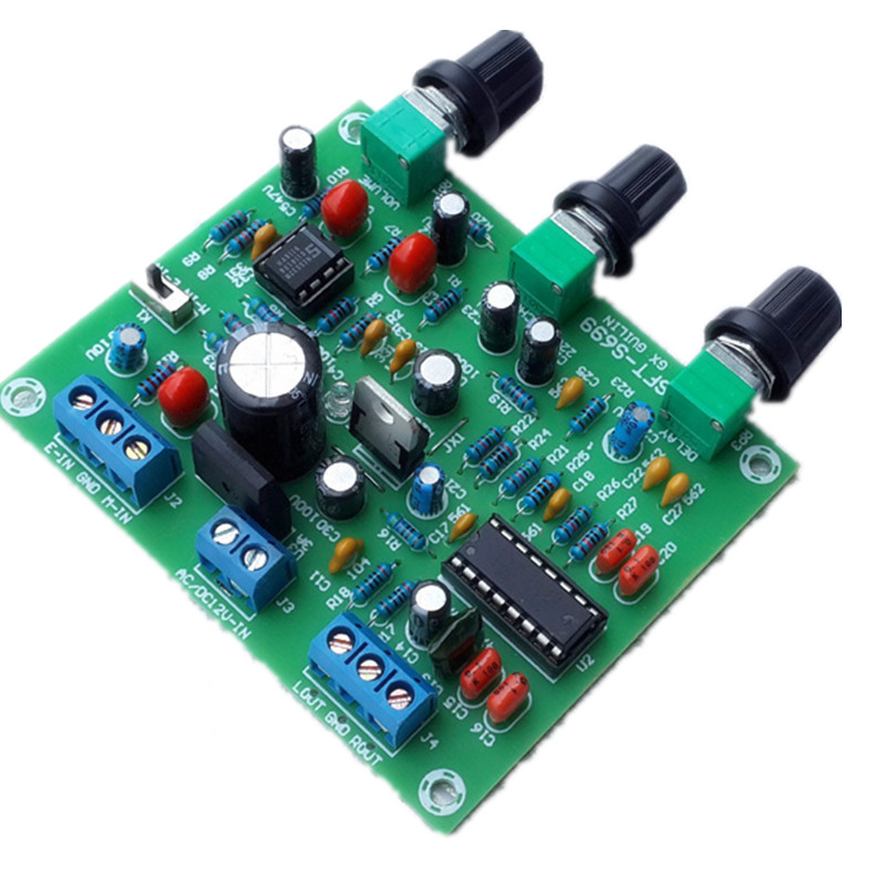 12v etk3699 digital karaok surround reverb delay microphone amplifier preamp board electretics. Black Bedroom Furniture Sets. Home Design Ideas