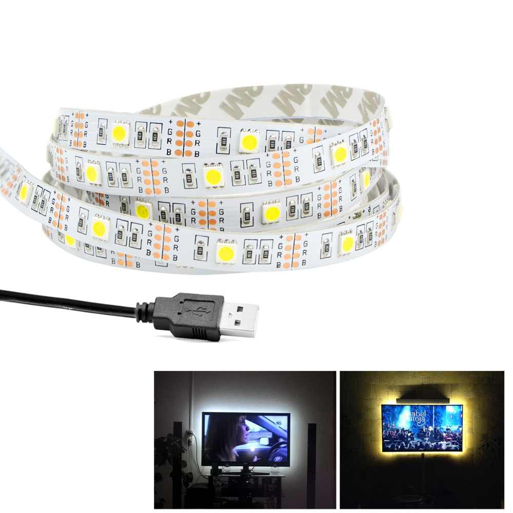 USB LED Strip Light 2835 / 5050 LED Strips DC 5V USB Cable Powered LED Lamp Tape Waterproof Tria led TV Background Lighting