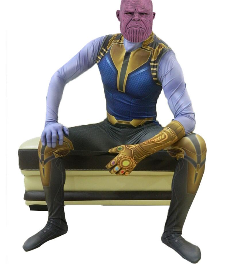 Thanos Cosplay Costumes Demon Thanos Costumes For Jumpsuits Kids Adult Halloween Party Dress Tight Bodysuit