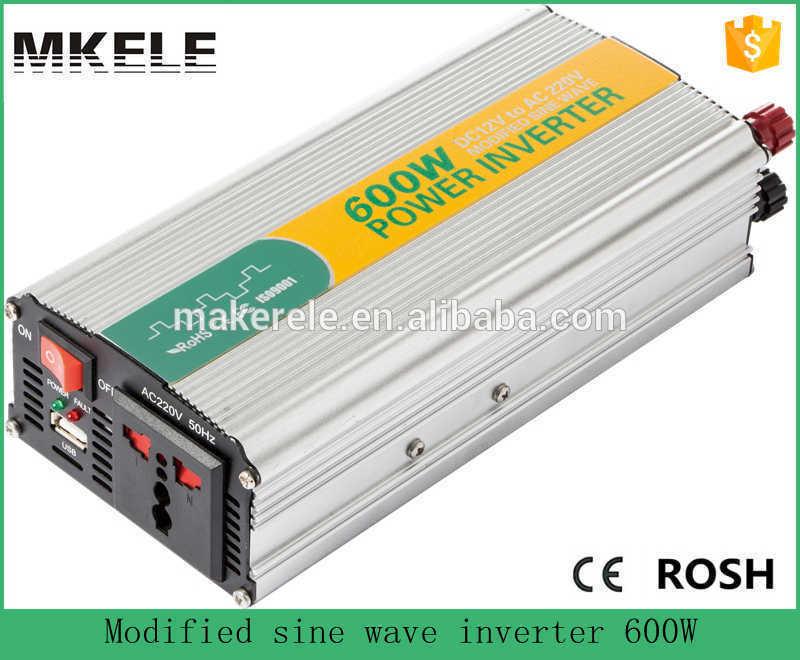 цена на MKM600-121G high efficiency off-grid modifed sine 600watt 12vdc to 120vac single output best car power inverter for laptop