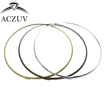 50pcs 3.3mm Wire 13cm Metal Ring Collar Circle Choker Necklace DIY Jewelry Findings Accessories CNW020
