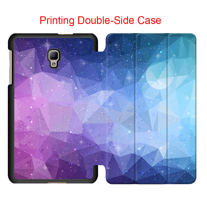 Magnet Slim Folding Flip Colorful Polygon Case Cover Tab A2 S T380 T385 Protective Smart Cover for Samsung galaxy Tab A 8.0 2017