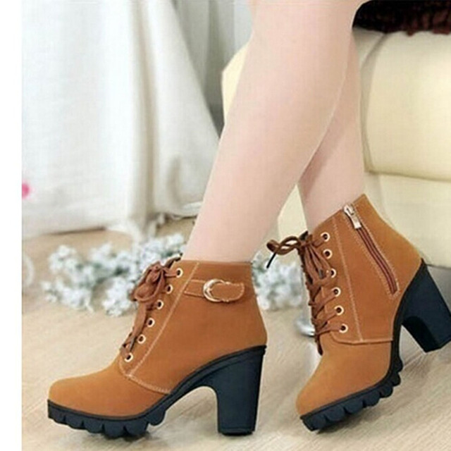 High Quality Lace-up Leather Boots