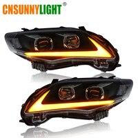 CNSUNNYLIGHT для Toyota Corolla 2011/2012/2013 автомобиля фары в сборе W светодио дный/LED DRL указатели поворота Plug & Play фары